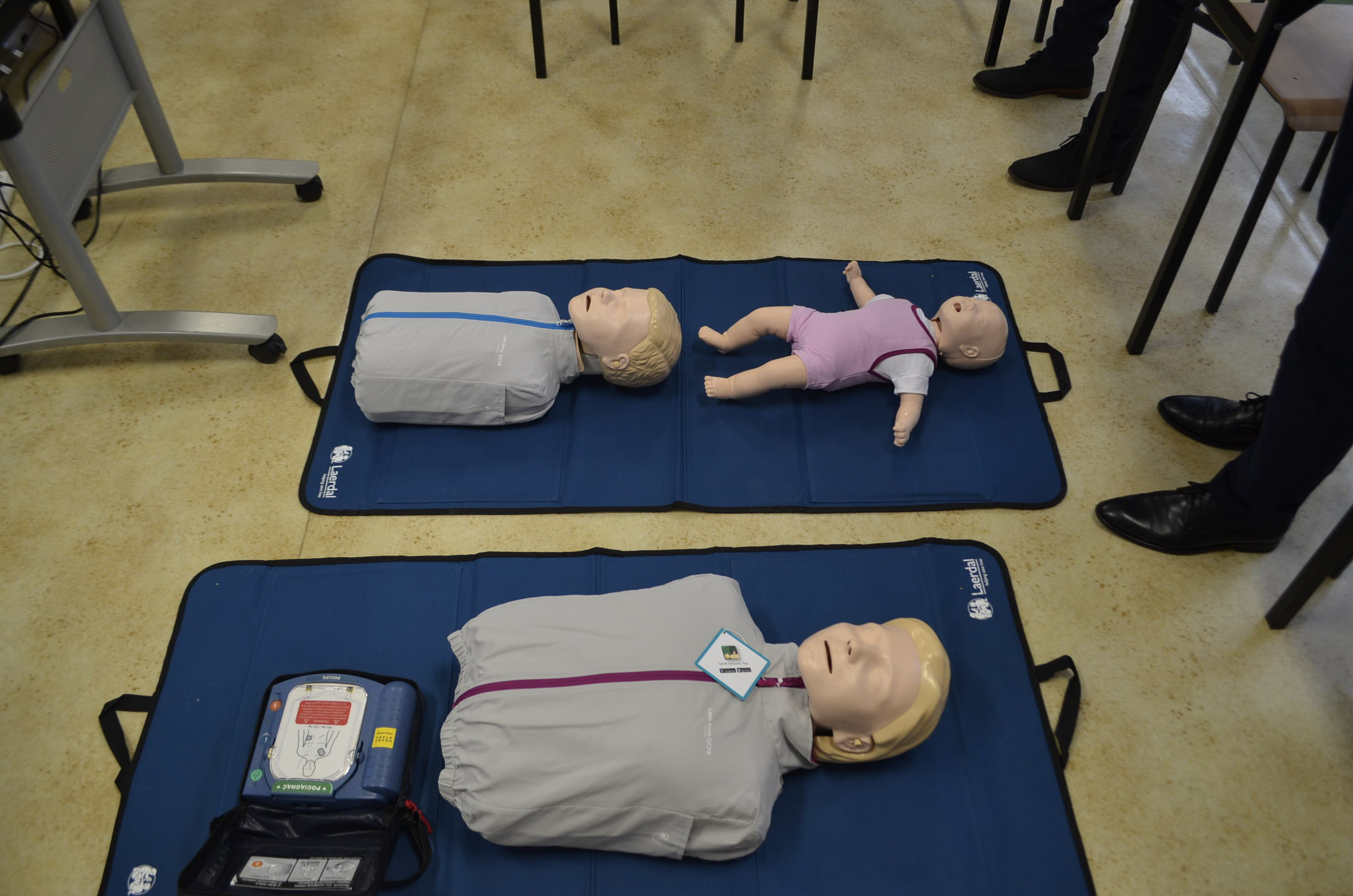 Manekiny do ćwiczeń udzielania pierwszej pomocy.